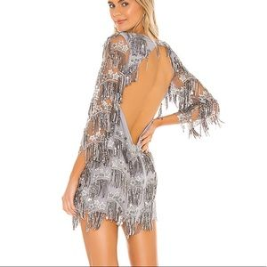 Etoile Sequin Fringe Dress in Gris ONLY WORN ONCE